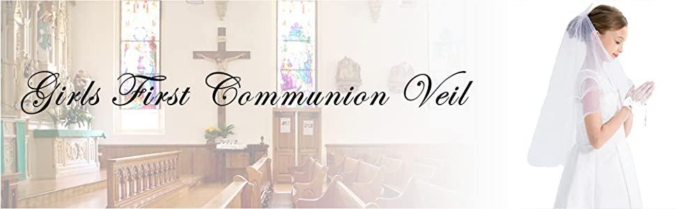 Communion veil with bow