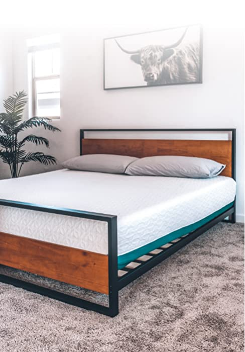 Suzanne Platform Bed Frame with Footboard