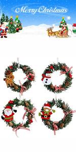 4 Pcs Christmas Pine Wreaths
