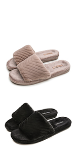 Fuzzy Slippers with Arch Support
