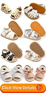 baby girl flower closed toe shoes