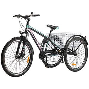 Black green powder mountain bike
