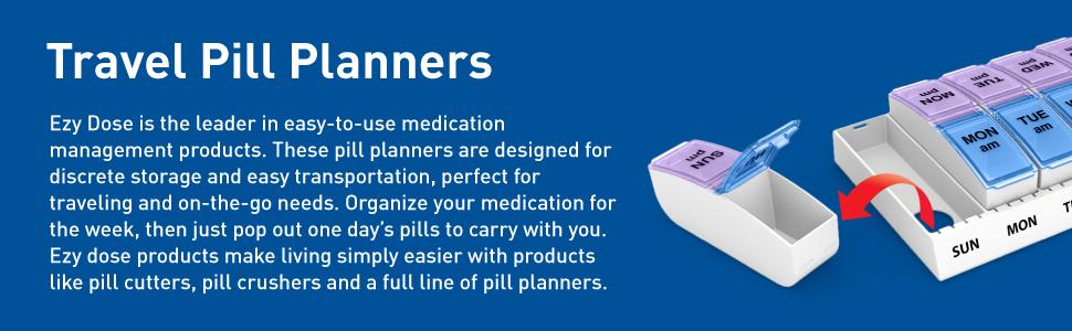 ezy dose pill planners descriptions
