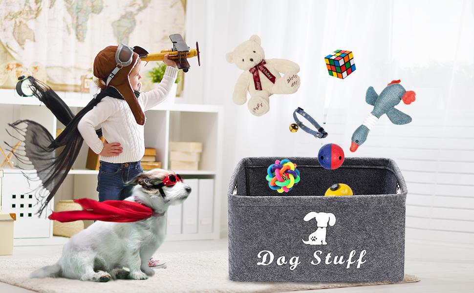 dog food storage container dog stuff organizer storage bin