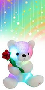 Glowing Rose Bear