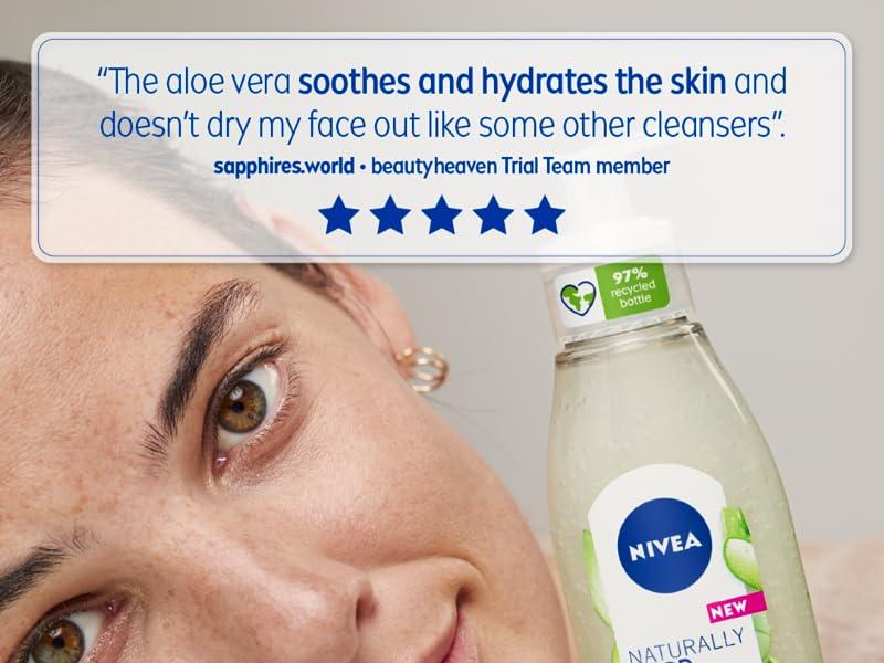 nivea, natural, face wash, cleanser, moisturiser, toner, double cleanse, organic, paraben free
