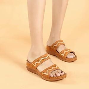 wedge sandals for women summer slides