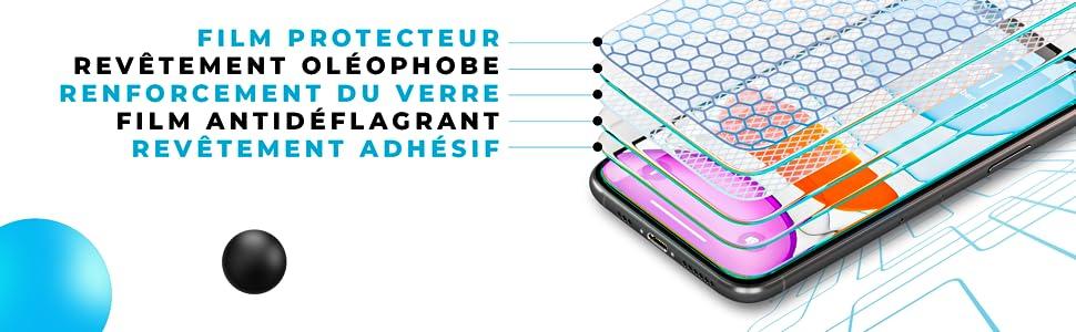 UsiPhone Lot de 3 Verre Trempé Compatible avec iPhone 11
