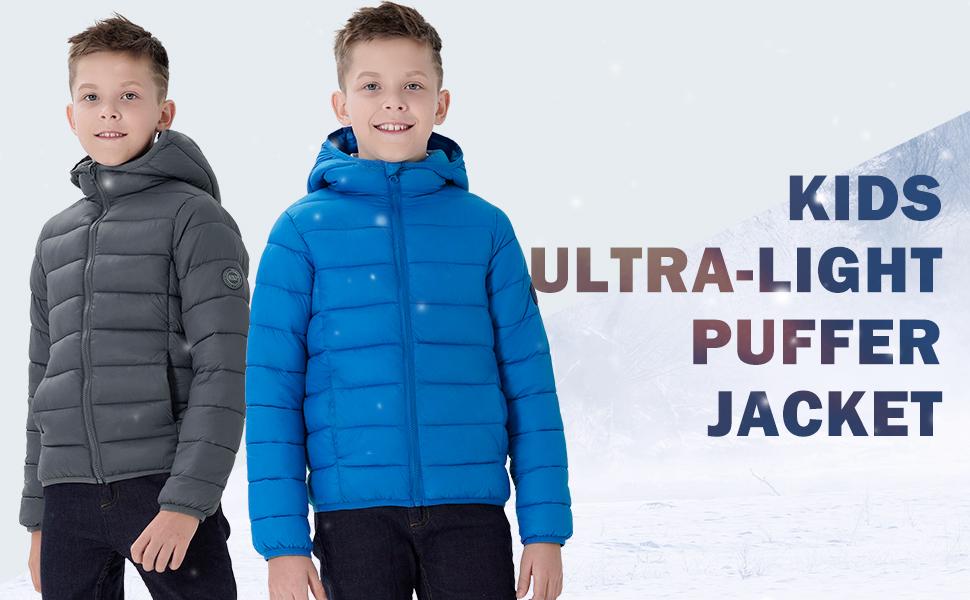 boys girls ultra-light puffer jacket