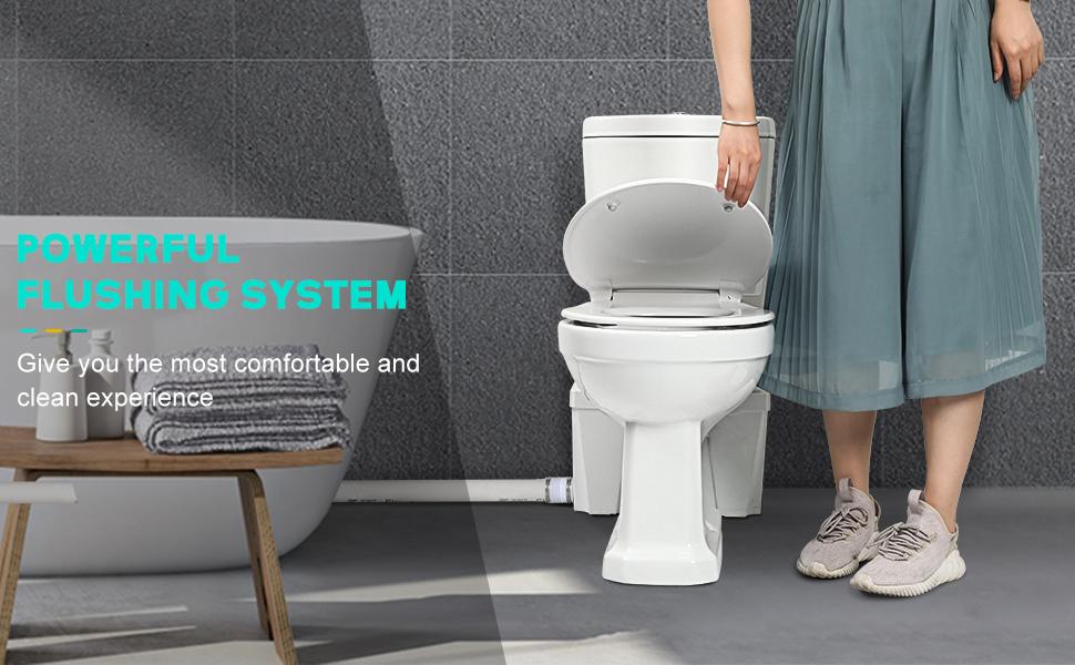 powerful flushing system