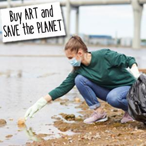 buy art save the planet water is alive art can help