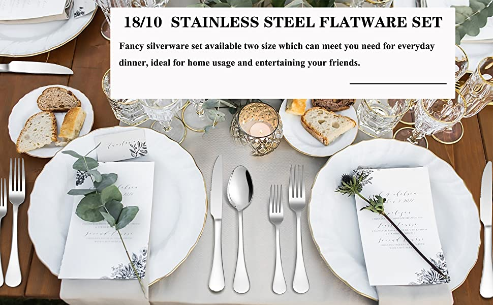 18/10 silverware set