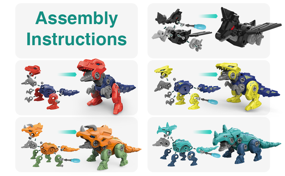 5 in 1 Dinosaur Robot