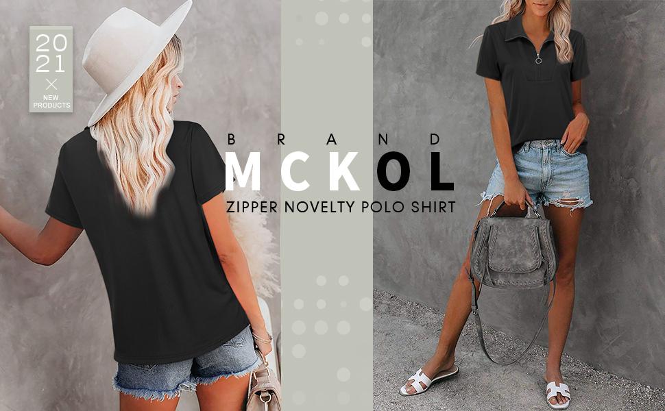 Zipper novelty polo shirt