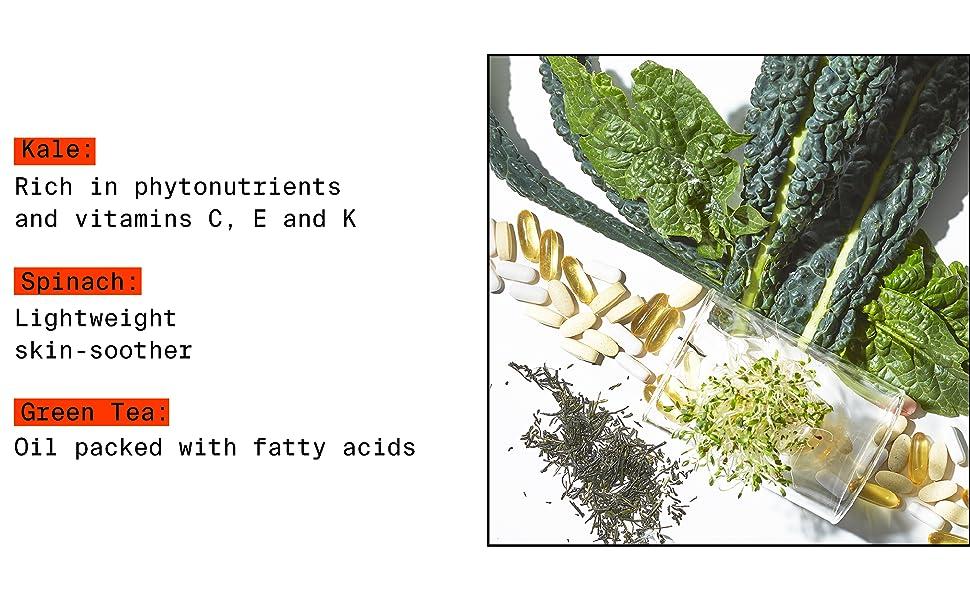sredstvo za čišćenje lica, umirujuće sredstvo za umirenje kože, kelj vitamin c vitamin e vitamin k