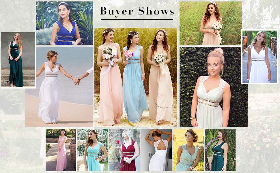 Ever-Pretty womens bridesmaid dress summer beach dress formal evening dress wedding party dresses