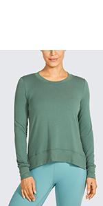 long sleeve tops yoga athletic sports workout active exercise fitness activewear shirts thumbhole