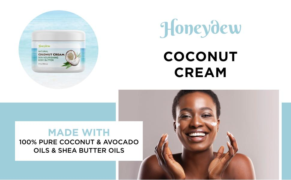 Made With 100% Pure Coconut and Avocado Oils, & Shea Butter Oils