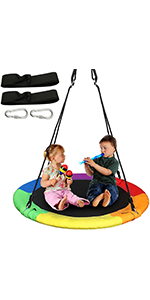 40 inches  Tree Swing Rainbow Color, 1 Pack