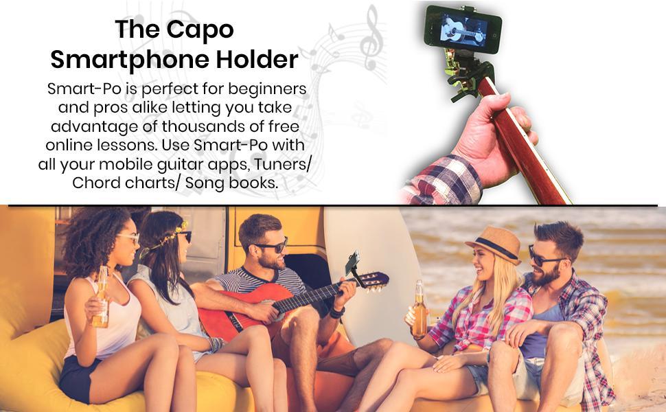 smartphone Capo Smart-Po guitar accessory phone clamp  guitar phone holder  Capo guitar phone holder