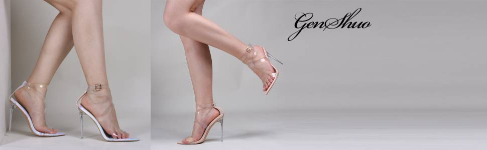 Clear Heeled Sandals