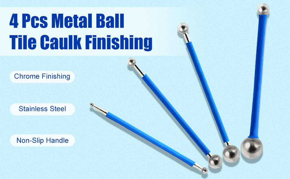 4 Pcs Metal Ball Tile Caulk Finishing
