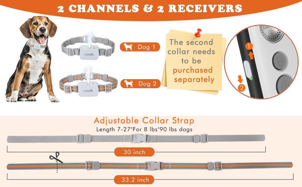 3.520 Strap Top Citronella Spray Dog Training Collar with Remote