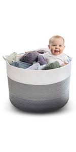 extra large toy, blanket and laundry storage basket