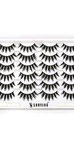 12pairs lashes pack eyelashes pack with glue