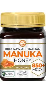 Raw Certified NPA 20+ Highest Grade Manuka Honey MGO 850+ Medicinal Strength