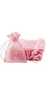 20 Pcs 10x 12cm Organza  Gift Bag(Pink)