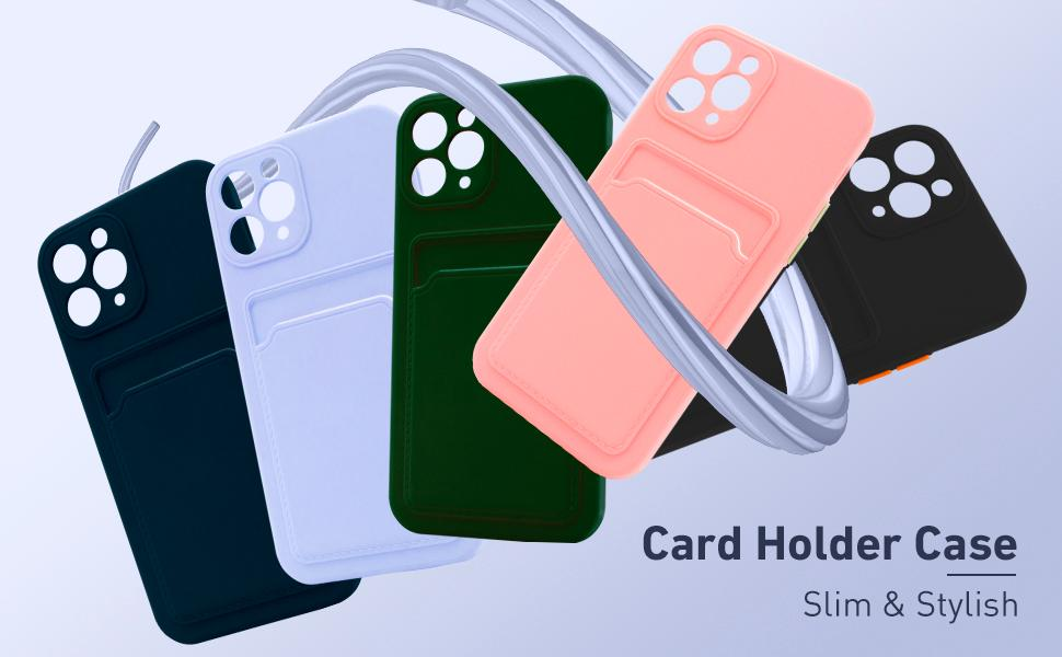 Naiadiy Silicone Wallet Case compatible with iPhone 11 Pro Max only.