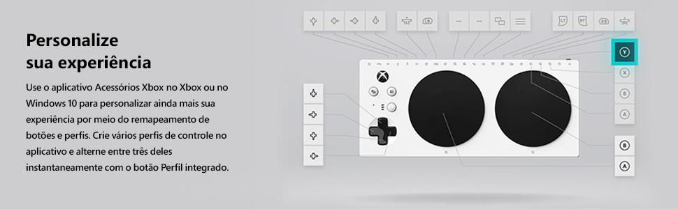 mapa dos botões do controle adaptável