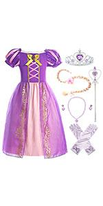princess Rapunzel costume for girls