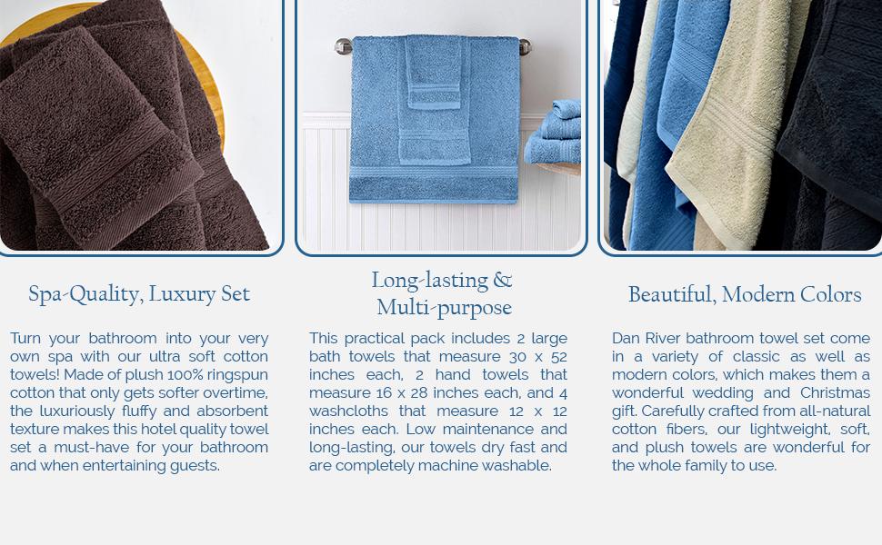 8 Pcs Cotton towel set
