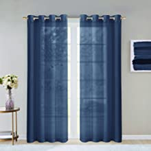Simple, serene and sophisticated, The Malibu Semi Sheer Extra Wide from Dainty Home