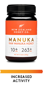 Raw Manuka Honey UMF 10+ MGO 263+ Increased Activity