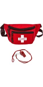 Lifeguard Fanny Pack with Whistle Lanyard