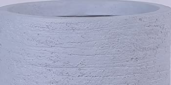 Grey Skyline Lightweight Tall Oval Concrete Planter Pots