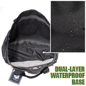 dual-layer waterproof bottom makes it safe to lay this beach tote on the ground