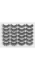 12Pairs Faux Mink False Eyelashes 6D Mixed 2 Styles eyelashes Q060