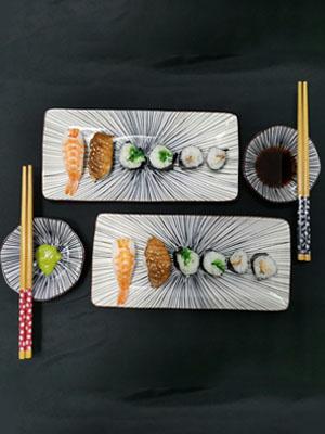 porcelain sushi plate