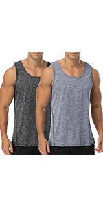 Babioboa Menamp;amp;#39;s 2 Pack Workout Tank Tops Gym Sleeveless Bodybuilding Muscle Shirt