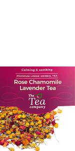 Rose Chamomile Lavender Tea Herbal Bedtime Loose Leaf
