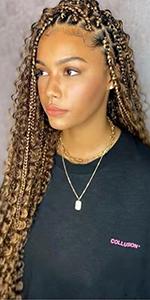 Goddess Box Braids Crochet Hair T27