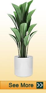 8 Inch White Ceramic Pot with Plug