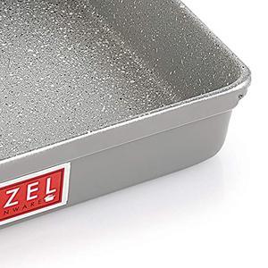 HAZEL Non Stick Bread Tray Microwave Oven OTG Aluminium Granite Finish Bakeware Baking Plate Pan