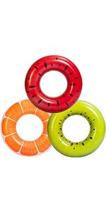 "Fruit Pool Floats 32.5"" (3 Pack)"