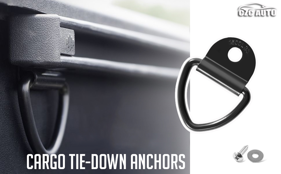 CZC AUTO Durable Tie Down V Ring with Mounting Screws & Washers to easily secure logistic strap