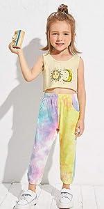 Girls Tie Dye Sweatpants